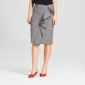 Who What Wear Skirts - Ruffle Pencil Midi Skirt